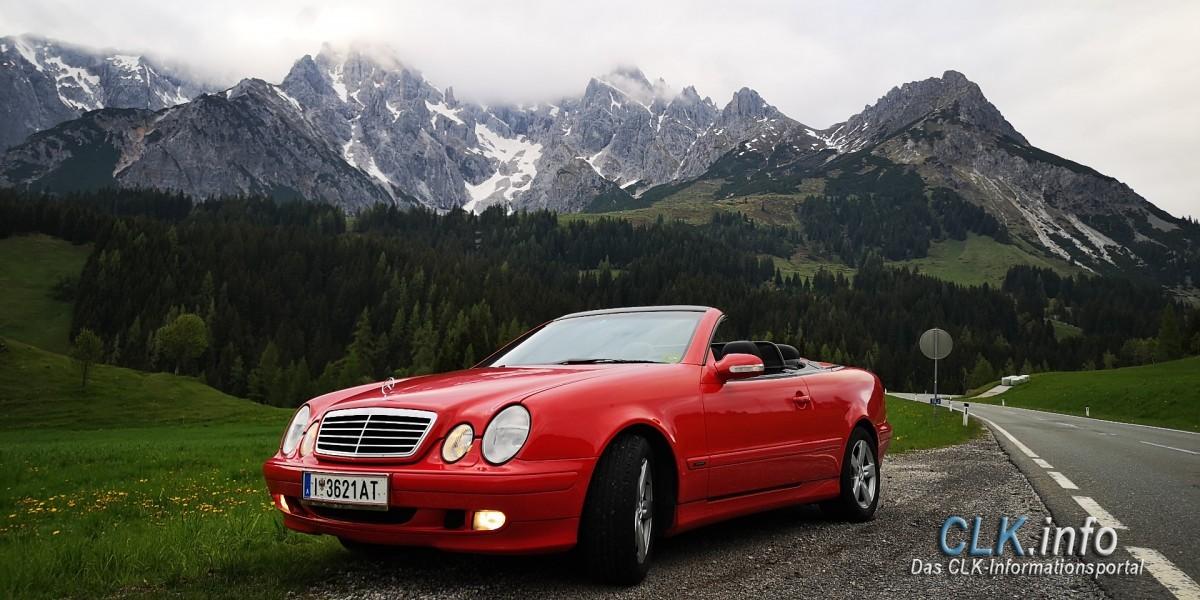 Roter CLK bei Dienten am Hochkönig in Österreich
