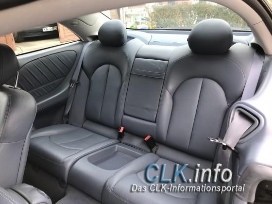 Rücksitz Leder blau
